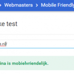 Test op een Mobile Friendly website