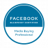Facebook blueprint certified media buying professional.
